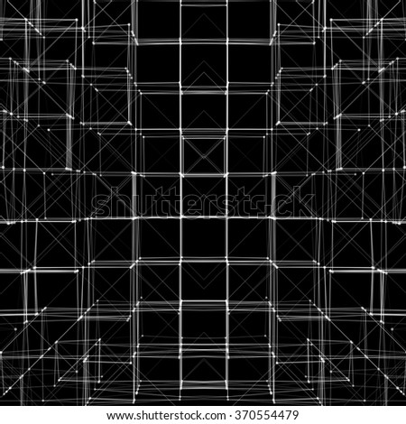 Abstract 3D Cube Vector Texture Background | Creative Line Art - stock vector