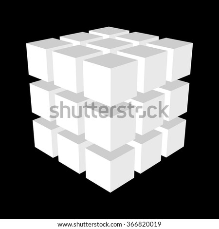 Abstract 3d cubes.Vector illustration. - stock vector