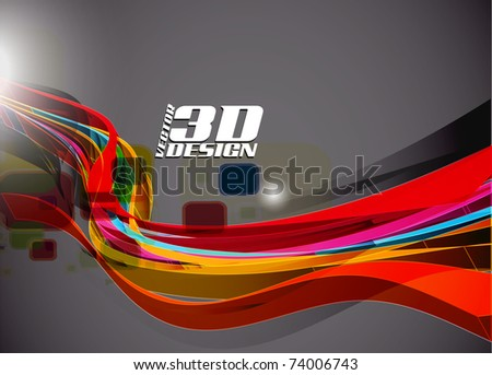 Abstract 3d design background, vector illustration - stock vector