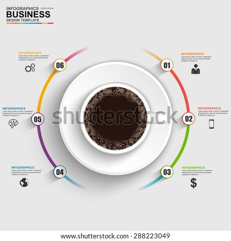 Abstract 3D digital business timeline Infographic - stock vector