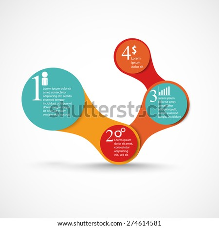 Abstract 3D digital illustration Infographic. Vector illustration can be used for workflow layout, diagram, number options, Modern web design. Business concept with 3, 4 options. Abstract background. - stock vector