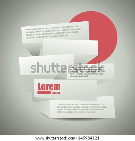Abstract 3d frames. cover template