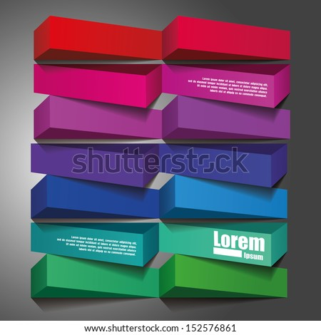 Abstract 3d frames. Geometrical Multicolored Background - stock vector