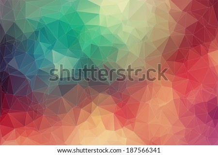 Abstract 2D geometric colorful background - stock vector
