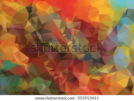 Abstract 2D geometric colorful background for your design - stock vector
