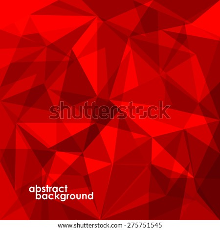 Abstract 3D geometric colorful background from triangles. Vector illustration. Eps 10 - stock vector