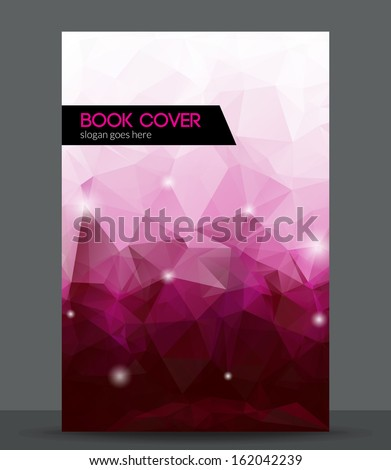 Abstract 3D geometric colorful cover - stock vector