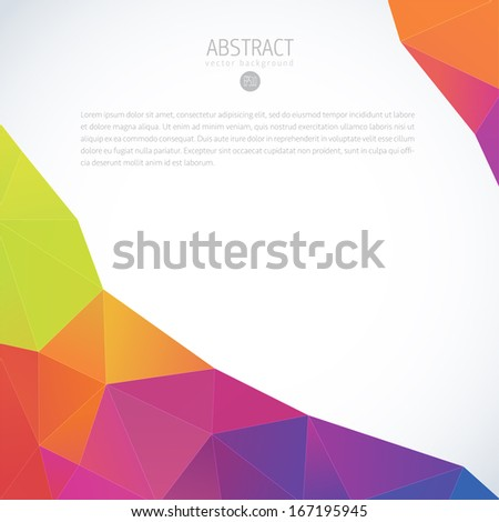Abstract 3D geometric colorful vector background  - stock vector