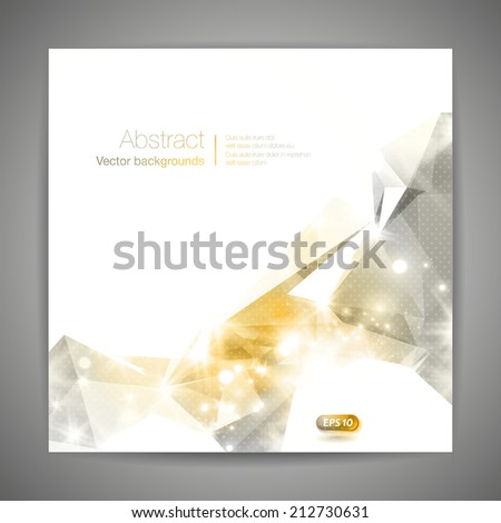 Abstract 3D geometric gold background.  - stock vector