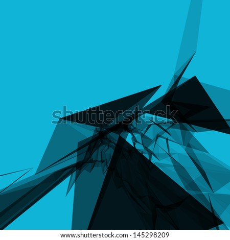 Abstract 3d geometric lines modern grunge vector background. - stock vector