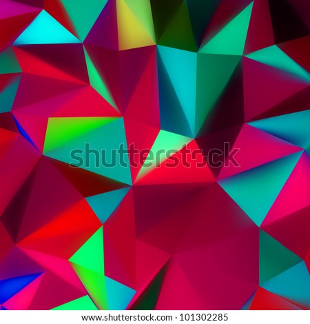 Abstract 3d geometric lines modern grunge vector background. EPS 8 vector file included - stock vector