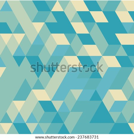 Abstract 3d geometrical background. Mosaic. Vector illustration. - stock vector