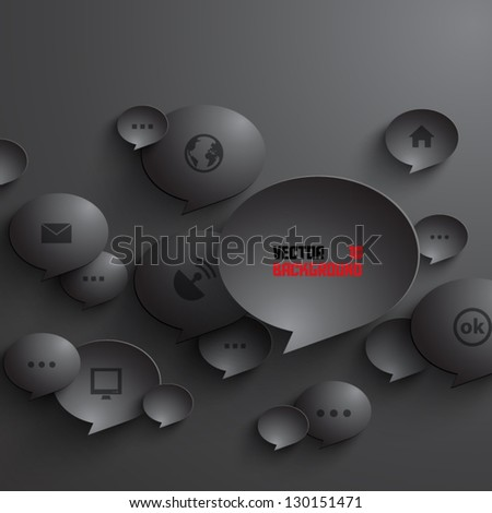 Abstract 3D Geometrical Design - stock vector