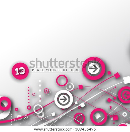 Abstract 3D Geometrical Srrow Design, eps10 vector - stock vector