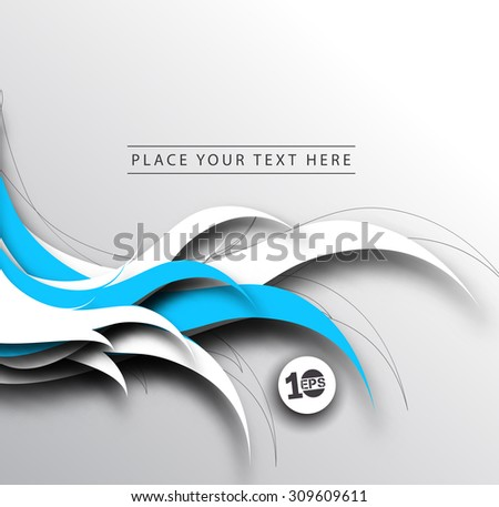 Abstract 3D Geometrical Wave Design, eps10 vector - stock vector