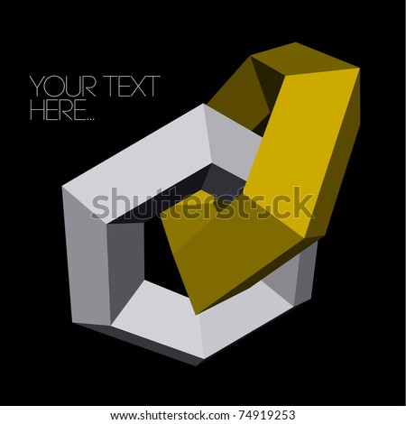 abstract 3d gold and silver background - stock vector