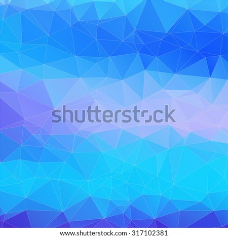 Abstract 2D mosaic triangle background for web design - stock vector