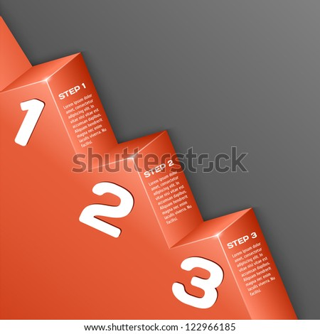 Abstract 3d numbers background - stock vector