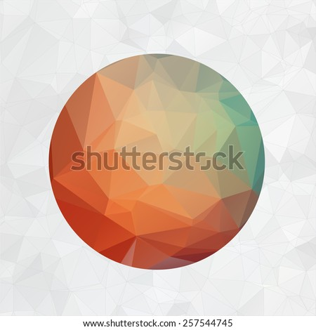 Abstract 2d origami circle vector background. Eps 10. - stock vector