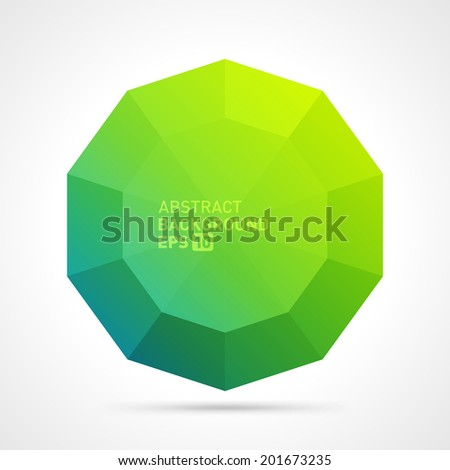 Abstract 3d origami polygonal speech bubble vector background  - stock vector