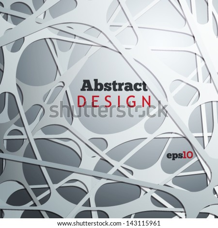 Abstract 3D paper design - stock vector