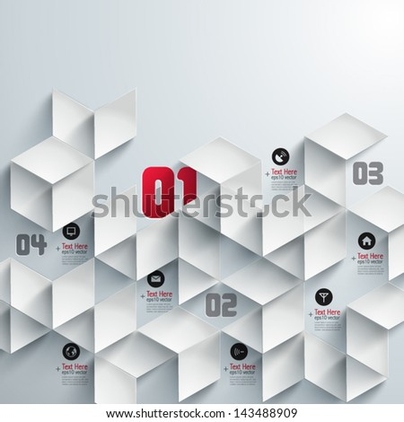 Abstract 3D Paper Graphics - stock vector