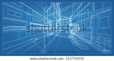 Architecture blueprint stock images royalty free images vectors abstract 3d render of building wireframe structure vector architectural construction graphic idea malvernweather Choice Image
