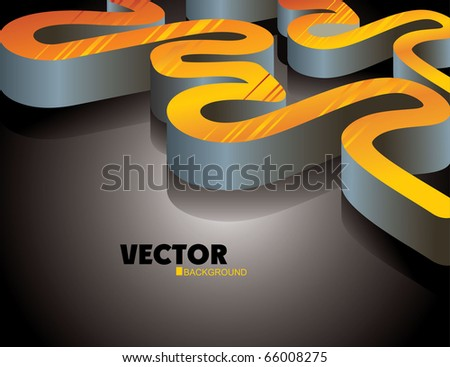 Abstract 3d shape - stock vector