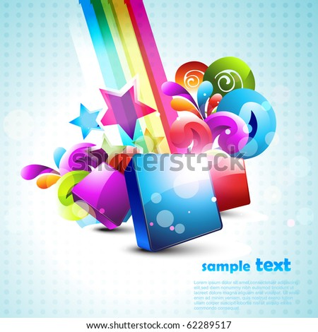 abstract 3d shape design background illustration - stock vector