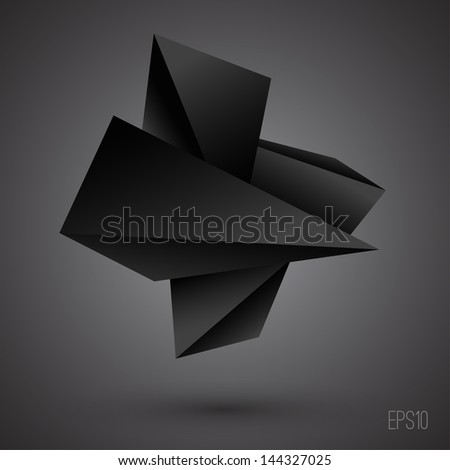 Abstract 3d shapes. Futuristic background - stock vector