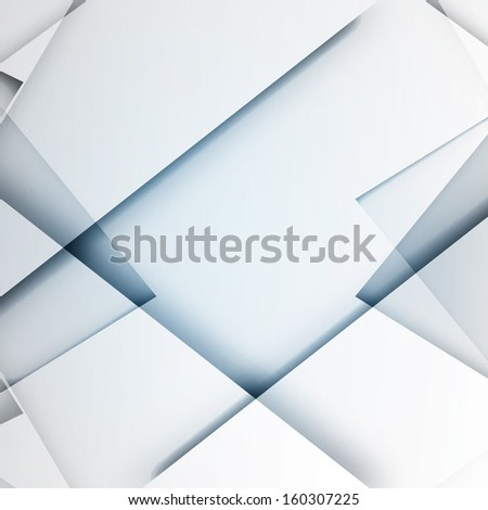 Abstract 3D Shapes Vector Design | Business Illustration - stock vector