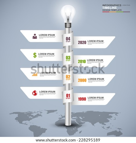 Abstract 3d signpost timeline infographics design template - stock vector