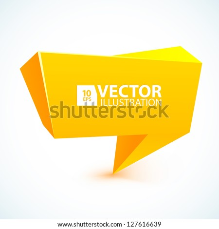 Abstract 3d speech bubble vector icon for your business website. - stock vector