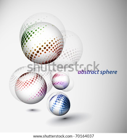 abstract 3d sphere with glossy sphere design. - stock vector