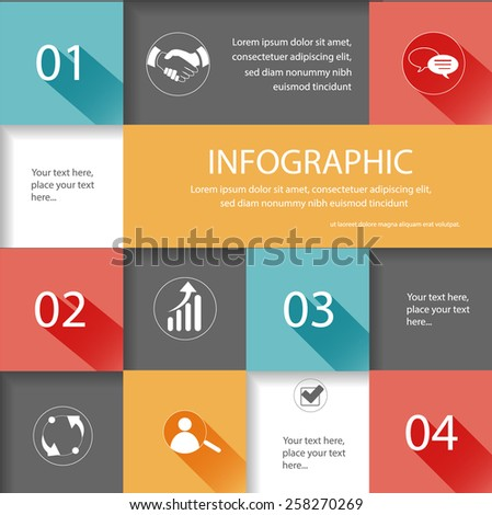 Abstract 3d squares, vector infographic. Vector eps10. - stock vector