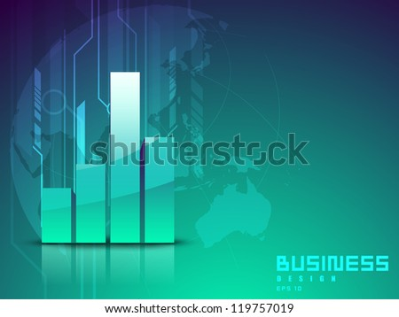 Abstract 3D statistics background, Business concept. EPS 10.