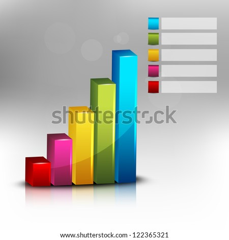 Abstract 3D statistics, business growth background. EPS 10. - stock vector