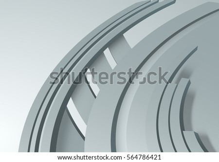 Abstract 3d steel structure vector background. EPS10
