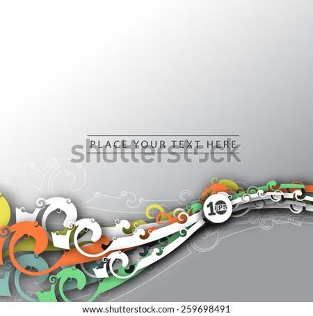 Abstract 3D Swirl Wave Line Design, eps10 vector  - stock vector