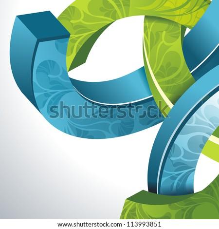 Abstract 3d technology circles vector backgound. Eps 10. - stock vector