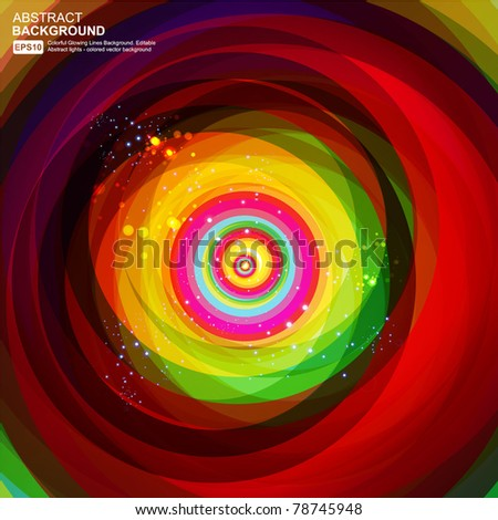 Abstract 3d technology lines with light vector backgound. Eps 10. - stock vector