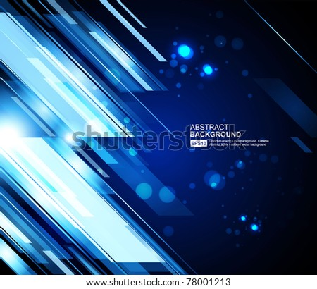 Abstract 3d technology lines with light vector background. Eps 10. - stock vector