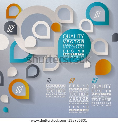 Abstract 3D Template - stock vector