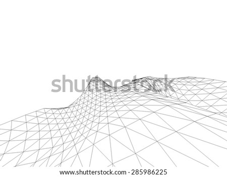 abstract 3d terrain geometry background