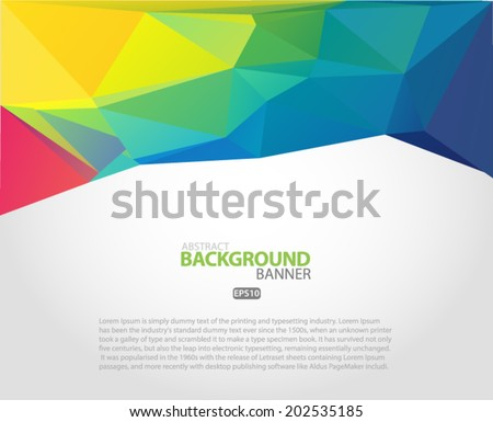Abstract 3D vector geometric colorful multi colored background Vector EPS 10 illustration. - stock vector