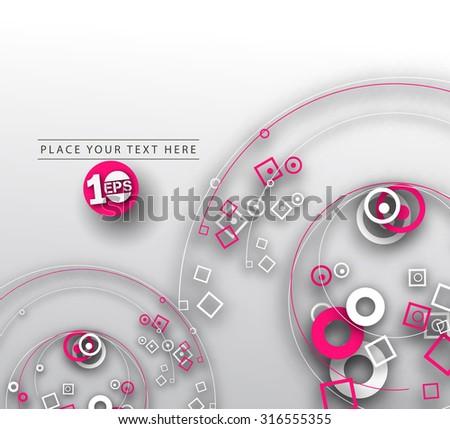 Abstract 3D Wave Circle Design, eps10 vector - stock vector