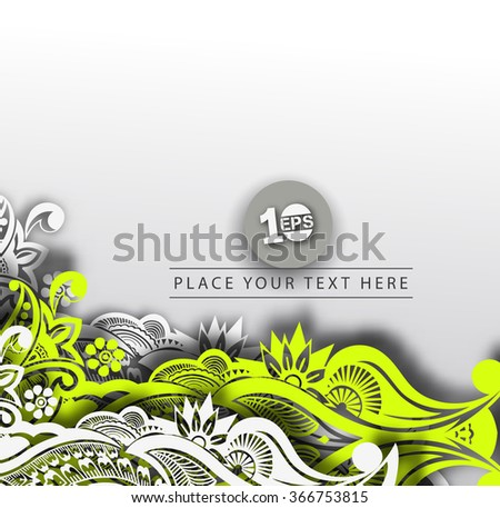 Abstract 3D Wave Design, eps10 vector - stock vector