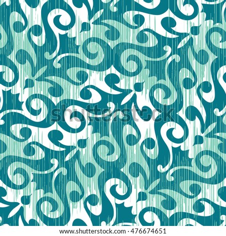 Abstract damask ornament pattern