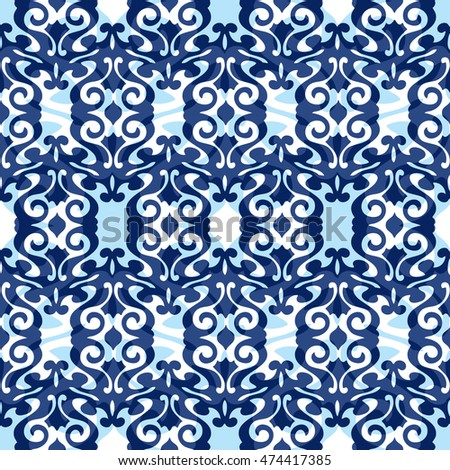 Abstract damask pattern seamless tile