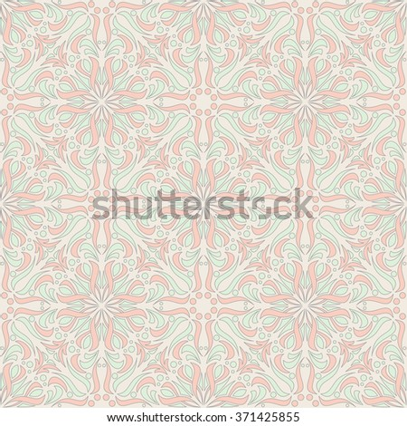 Abstract Damask Seamless Vector Background - stock vector